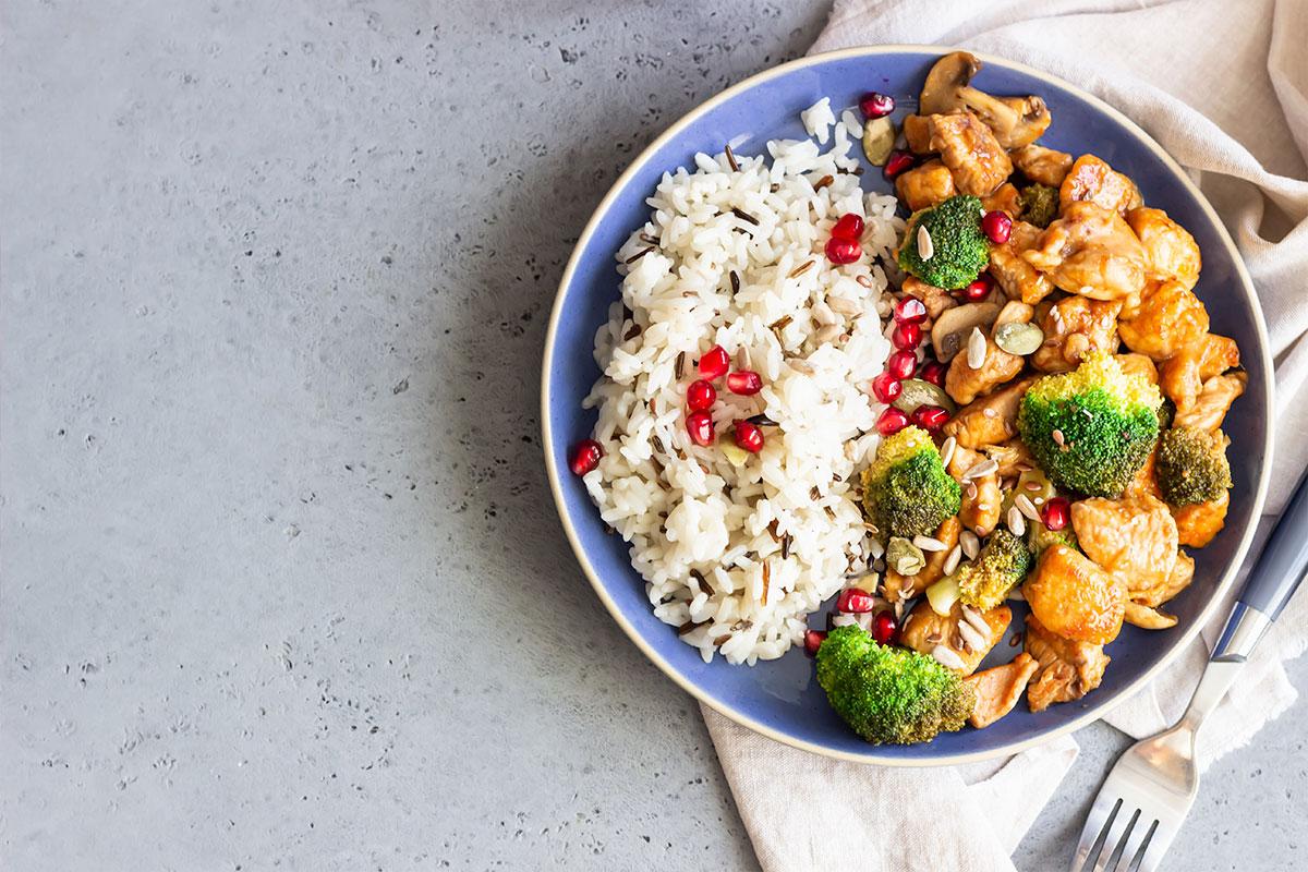 arroz e frango
