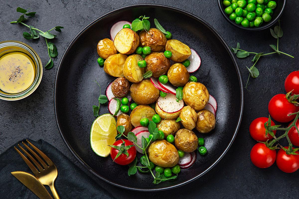 batatas e ervilhas