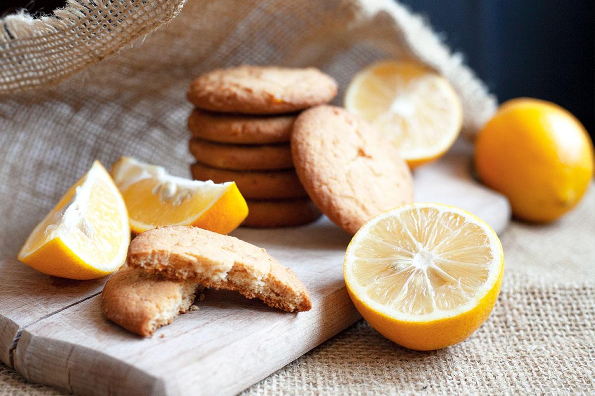 Bolachas de amêndoa e limão