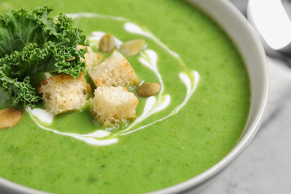receta crema de kale