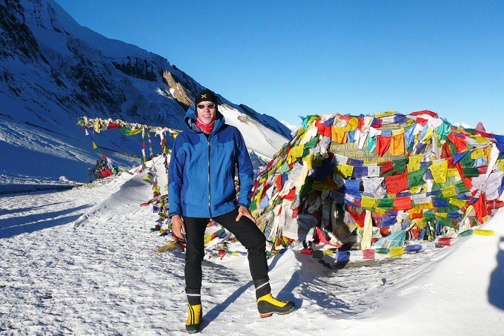 Ismael Santos, en su viaje a Nepal